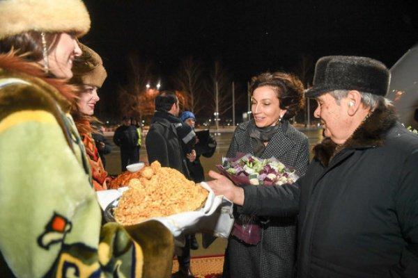 Одри Азуле и Минтимер Шаймиев.