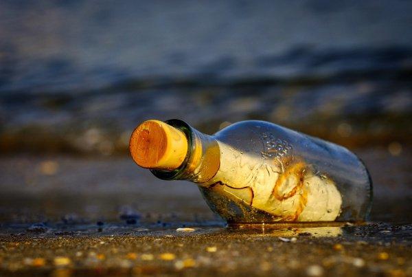 Чтобы прочитать письмо, семье пришлось разбить бутылку