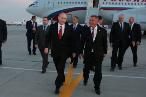 По словам Минниханова, у Путина «огромный мегаавторитет» как в России, так и в мире (Фото: tatarstan.ru)