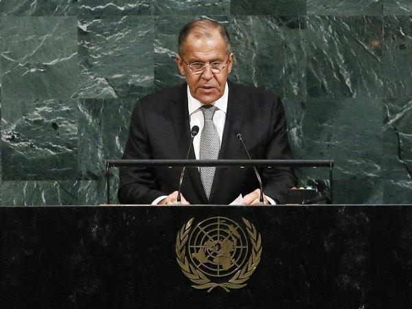 Сергей Лавров на Генассамблее ООН в 2017 году.