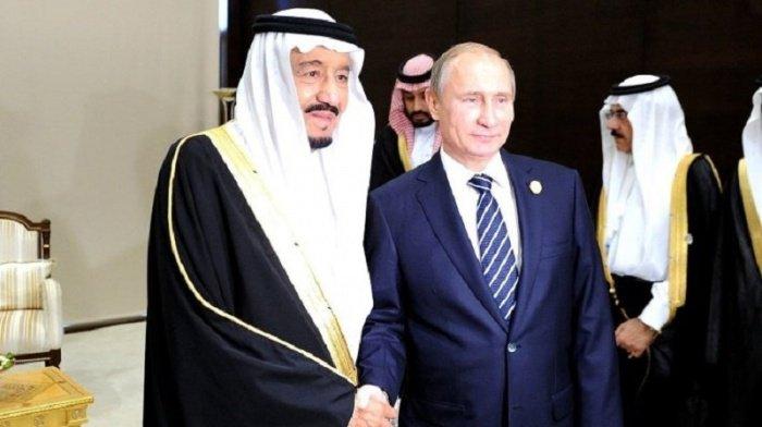 Владимир Путин и король Салман начали переговоры.