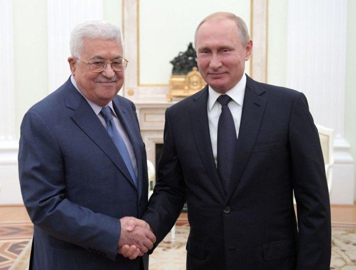 Путин и Аббас на одной из предыдущих встреч.
