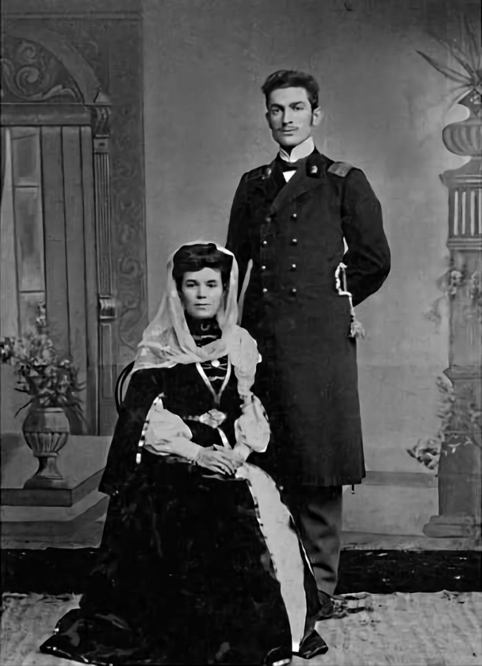Абдул-Муслим Магомаев с Байдигюль Терегуловой супругой. 1906 год