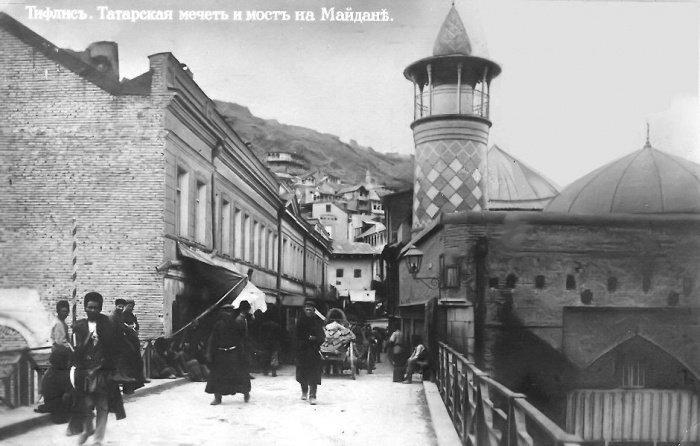 Азербайджанская шиитская мечеть (Голубая мечеть) Тбилиси. Была разрушена в 1951 году