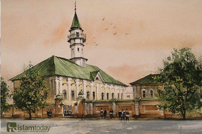 История народа - в истории мечетей. (Картина И. Айдарова)