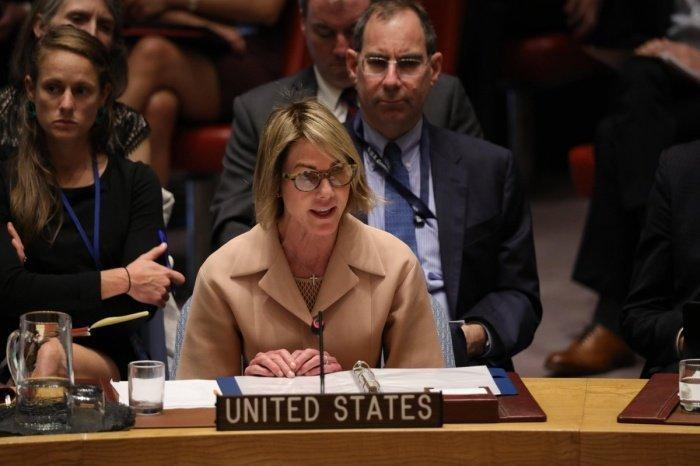 Келли Крафт на заседании Совбеза ООН.