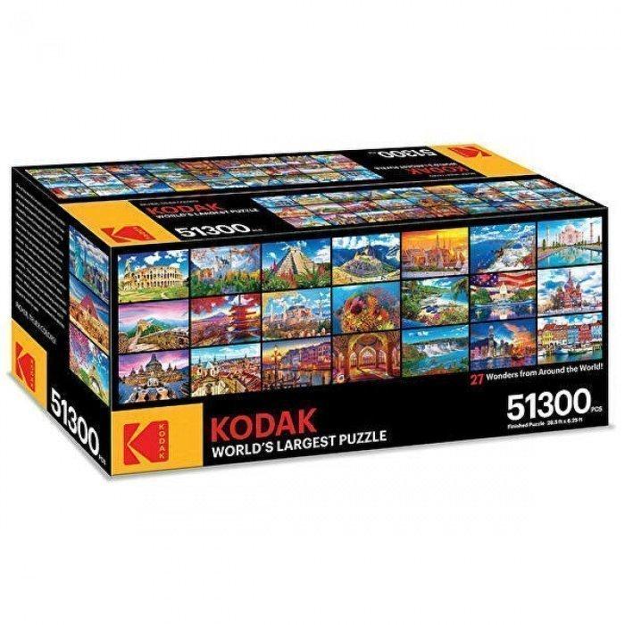 В дальнейшем собранные паззлы соединяются в один большой (Фото: Kodak)