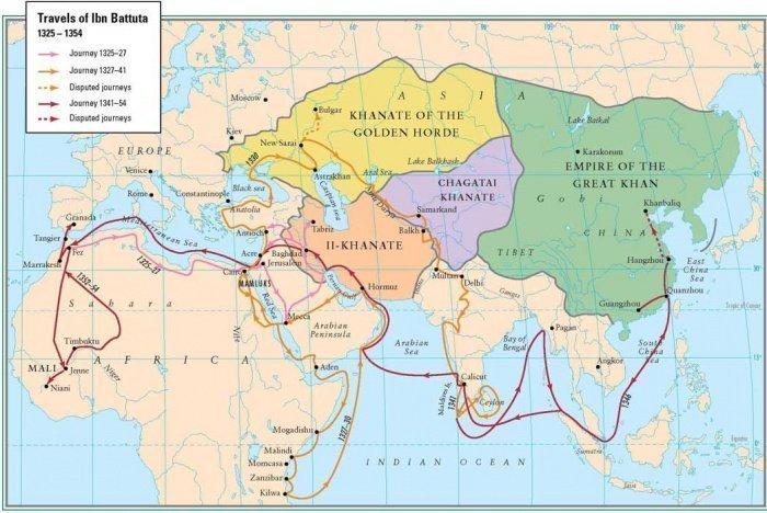 Путешествия Ибн Баттуты.