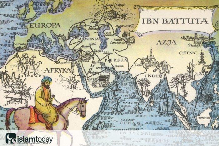 История путешествий Ибн Баттуты (Источник фото: yandex.ru)
