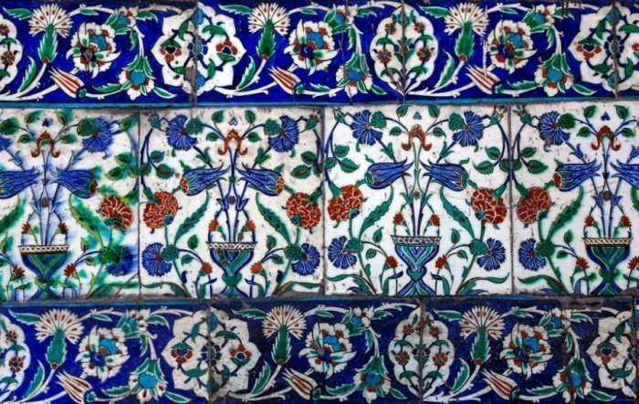 Керамическая плитка. Голубая мечеть.