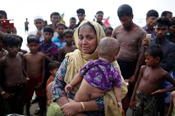 Около 740 тысяч рохинджа были вынуждены бежать из Мьянмы.