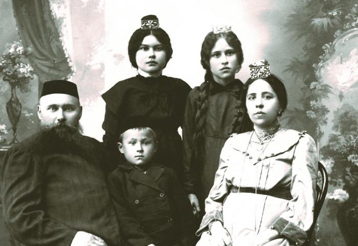 Купеческая семья Сутюшевых. Петропавловск,1913.