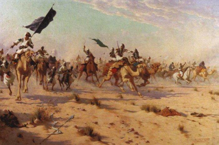 Изображение битвы при Ухуде.