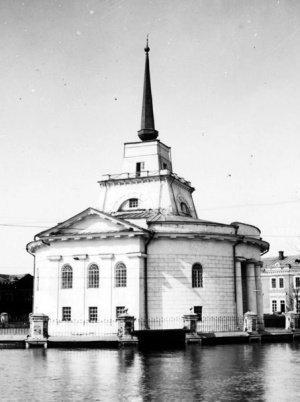 Ярмарочная мечеть в Нижнем Новгороде во время половодья. Фото М. Дмитриева