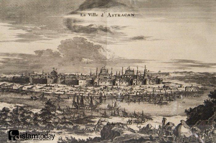 Астрахань в XVII веке. Гравюра 1682 года (Фото: wikipedia.org).