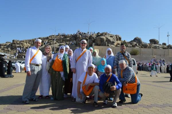 Татарстанские паломники в Саудовской Аравии.