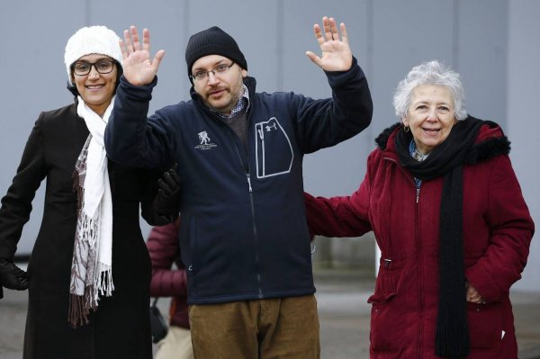 Журналист Washington Post Джейсон Резая, освобожденный из иранской тюрьмы.