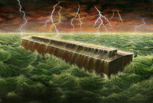 """""""..Потоп Нуха произошел через две тысячи двести лет после того, как Адам снизошел на землю"""""""
