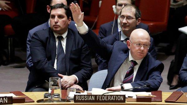 Василий Небензя на заседании Совбеза ООН.