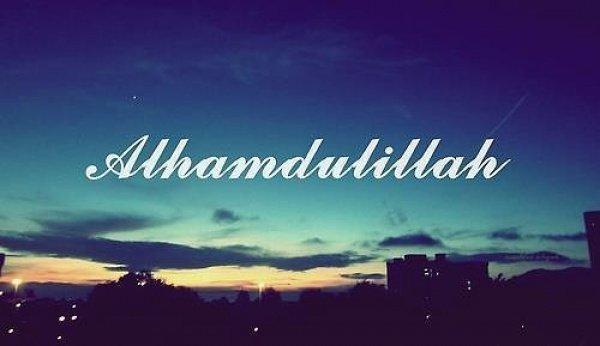 Альхамдулиллях - это благодарность обладателю величия и совершенства