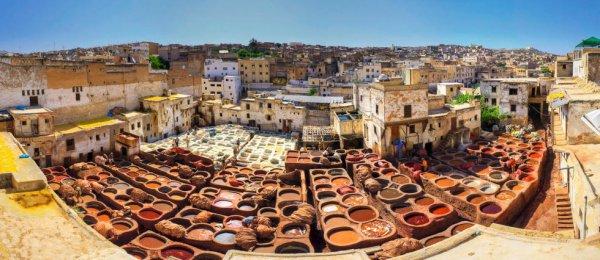 Марокканские кожаные изделия
