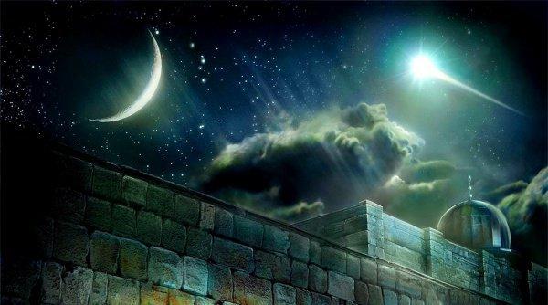 Начало Мираджа - вознесения Пророка (мир ему) на небеса